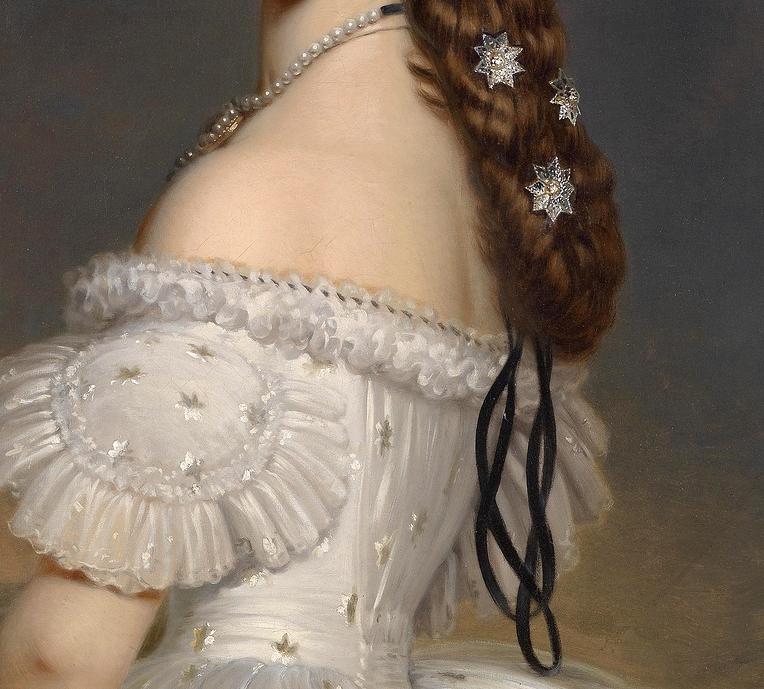 ladypekinpack: Elisabeth of Bavaria, Empress of Austria (detail), Franz Xaver Winterhalter.