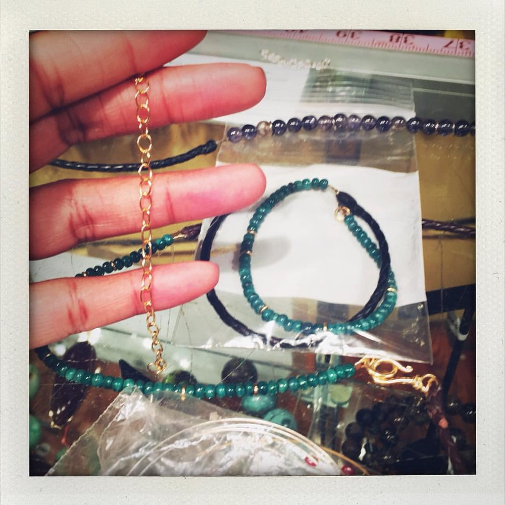 Getting ready for Tokyo! My first trunk show. I'm working on some bead bracelets, so I stopped by to talk to my bead boys at @beadsofparadisenyc. It turned into a poignant moment when the boys and I realized the journey of #charltonandlola started there. I took my first wire-wrapping and beading classes there in 2010. I'd stop by religiously, over the years, to browse the sea of beads and ask how to string and design. Joe taught me about stones, John how to combine beads with leather and Karma how to work metal wire without fire. I wear their creations every week, so do my friends and family. Life has gotten more hectic but nothing can take away from the beginning and the beautiful relationships that built a dream and a brand. Nothing big is done alone. Thank you guys. Feeling grateful and loved. (at Beads of Paradise NYC)