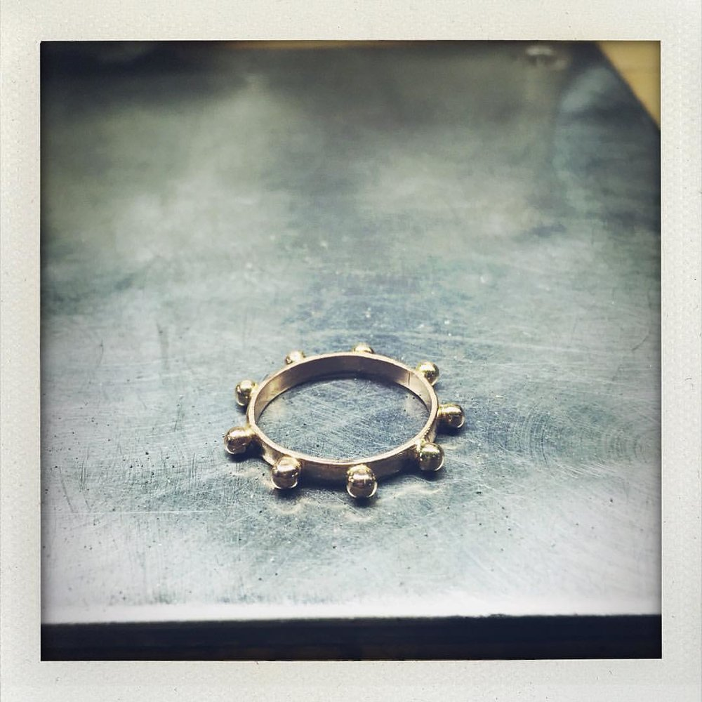 That #meditation #ring. I love how it came outside #18k #lovegold #charltonandlola (at New York, New York)