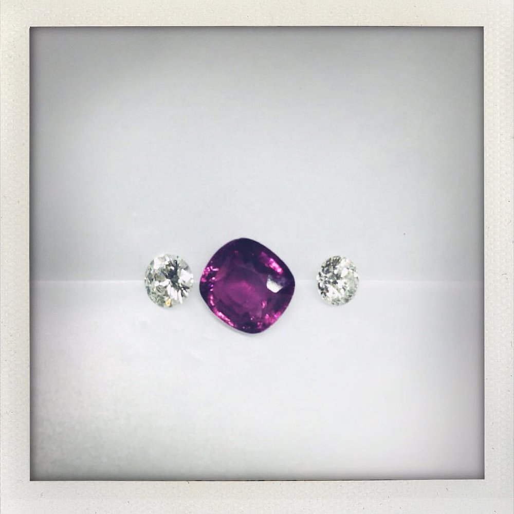 Afternoon Lover. Grape Garnet with Diamonds. How the day got better. Ring Design.