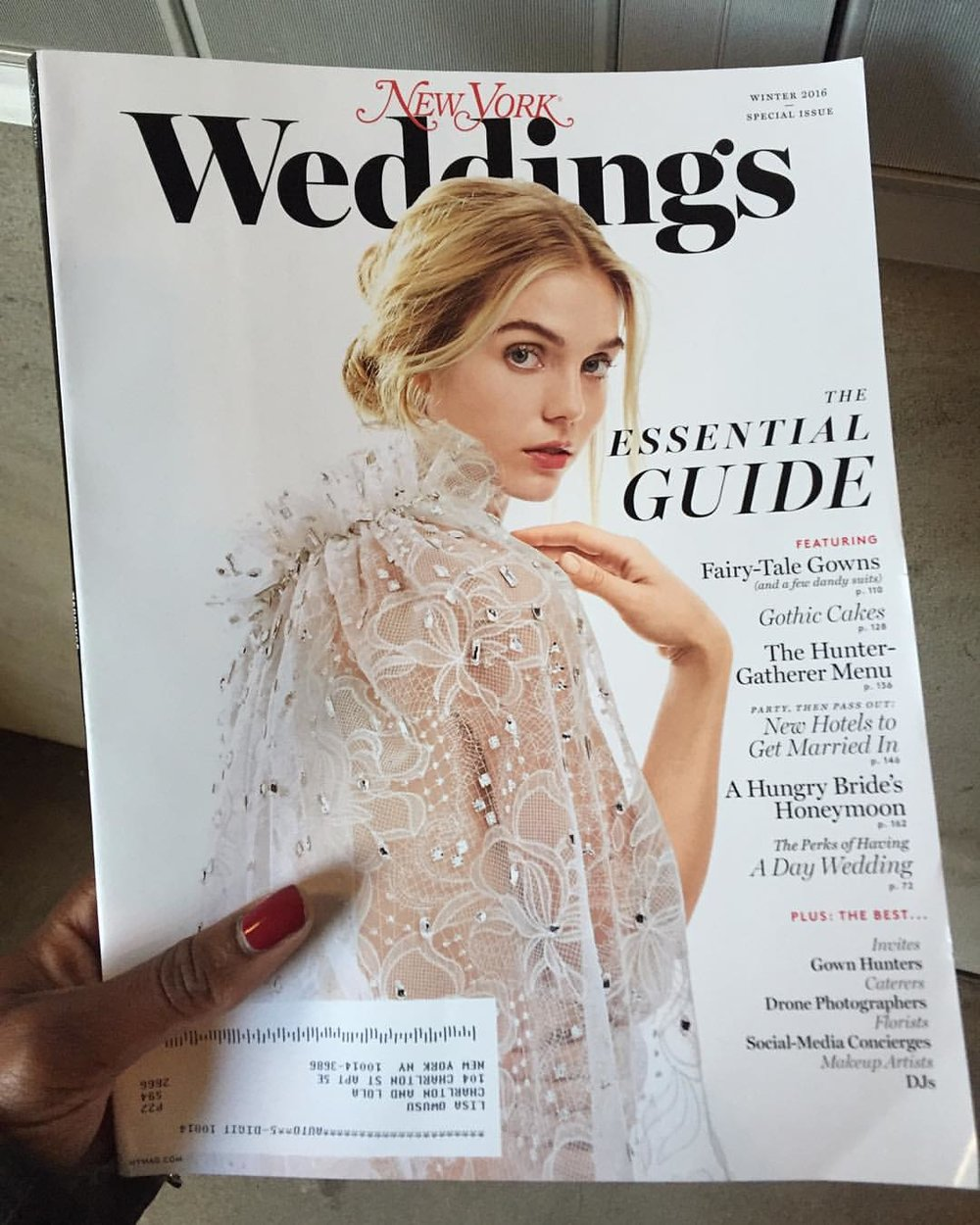 It's heeeeeere!!! At my mailbox. My first ad! Gorgeous cover! @nymag #newyorkweddings Out on newsstands on Monday! Gorgeous! #nybrides #madeinnyc #nycwedding #weddinginspiration #weddingrings #leoooooh #blessed (at New York, New York)