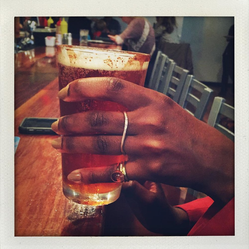I was on my way to the bead shop and then she told me she was in my hood. Three hours later. Octoberfest and she's wearing rings! @mariexxrue Happy Saturday! #october #madeinnyc #nyclife (at Westville)