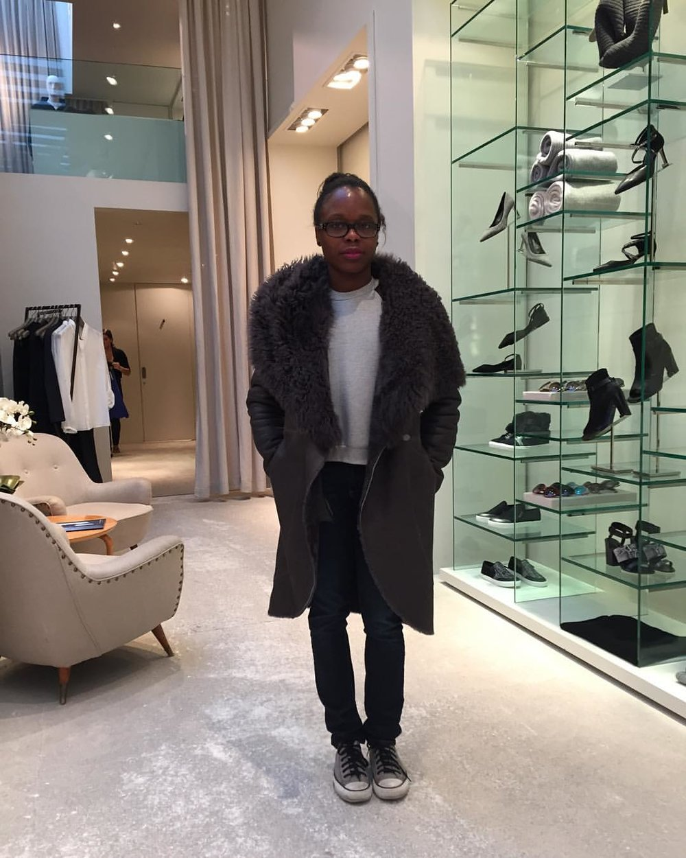 I was opulent for a nanosecond. (at Elie Tahari Soho)