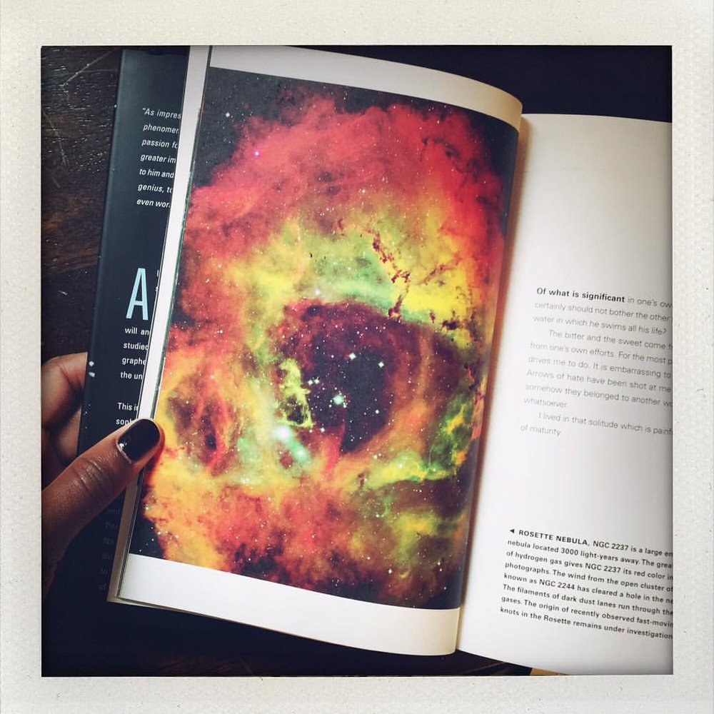 """""""Imagination is more important than knowledge. For knowledge is limited, whereas imagination embraces the entire works, stimulating progress, giving birth to evolution. ~Rosette Nebula (The Cosmic View of Albert Einstein) Why I love Tourmalines. I'm off to catch the rest of the Eclipse and Full Moon! xo #charltonandlola #fullmoon #eclipse #nebula #imagination #wisdom #inspiration #tourmaline #alberteinstein #universe"""