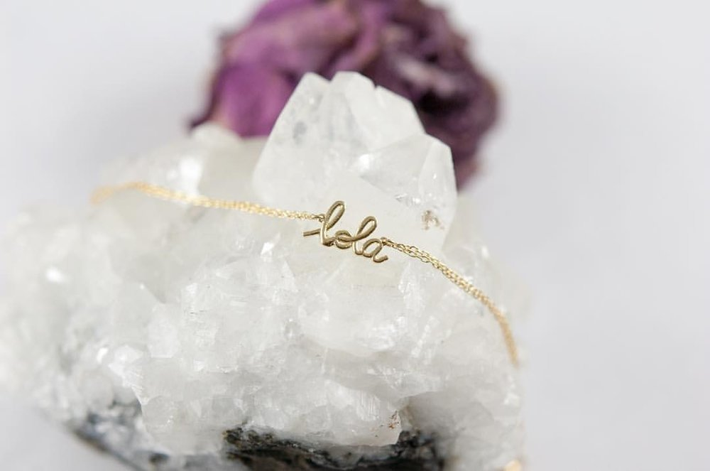 "Oooh wah! Name Game. Mantra Game. How we gonna do this? ""L-O-L-A"" celebrates me. All things ""Lisa Owusu. Lisa Abrafi."" What's your empowerment? Email for more info. I'm already thinking of the gemstone version. #charltonandlola #lovegold #happyfriday #madeinnyc #instajewelry"