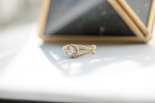 18k Gold & Diamond Solitaire Ring