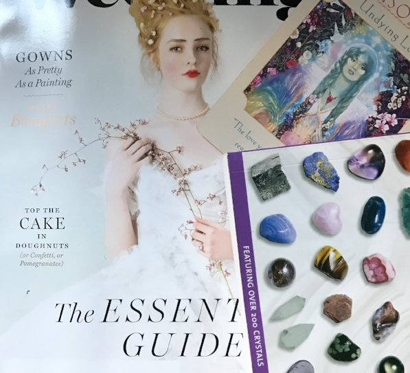 New York Weddings & The Crystal Bible by Judy Hall & Goddess Card Isolt