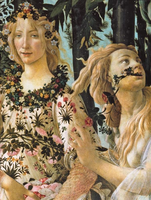 Springtime. Working with Muses-Flora & Chloris in Sandro Botticelli's Primavera