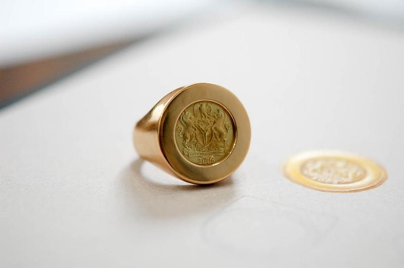 Naira Coin 18k Gold Signet Ring