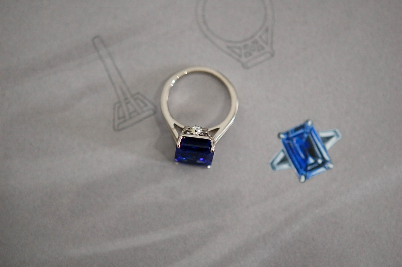 Tanzanite & Diamond White Gold Ring by CHARLTON & LOLA