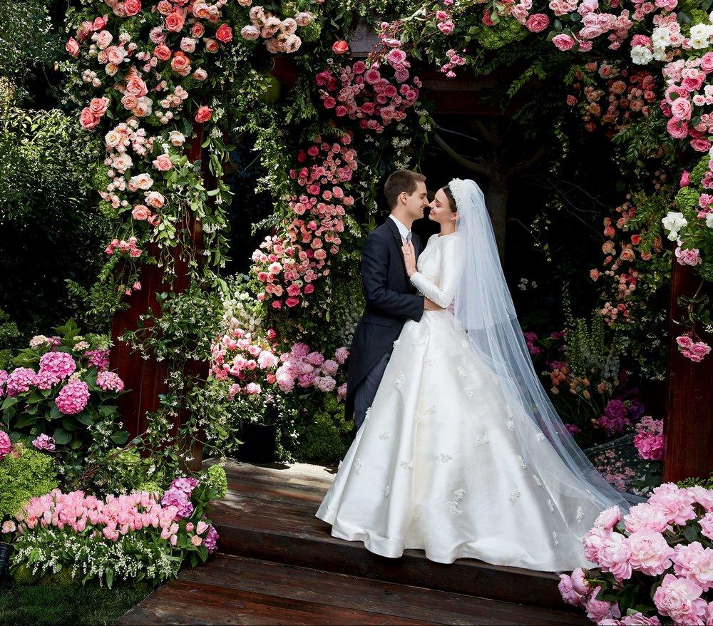 Miranda Kerr & Evan Spiegel Wedding Day