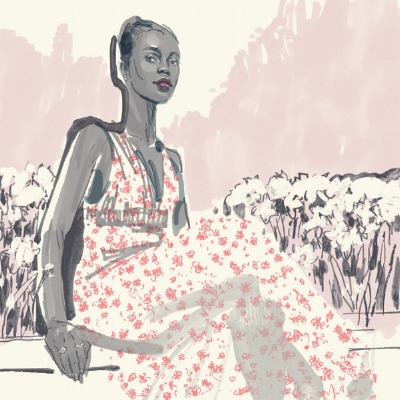Lisa A. Owusu, Creative Director & Jeweler, Featured at www.ivankatrump.com, illustration by Jonny Ruzzo