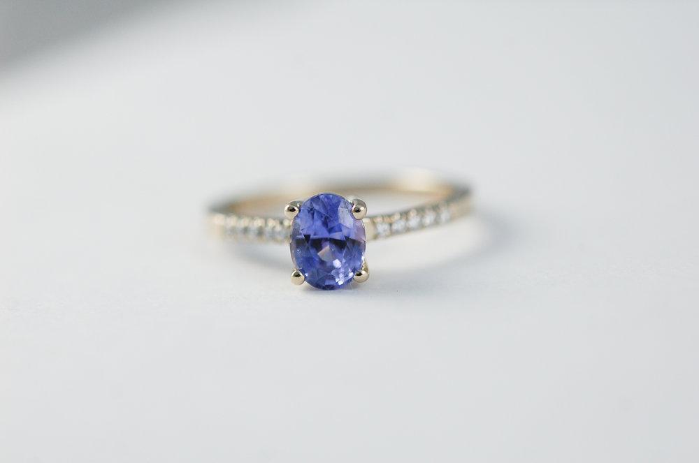 CHARLTON & LOLA Purple Sapphire Engagement Ring