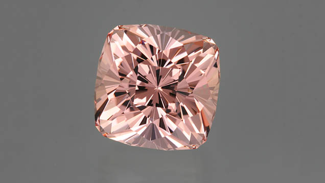 Stone courtesy of GIA. Morganite rough, a beryl. Learn more at GIA.edu.