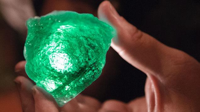Stone courtesy of GIA. Green beryl.Learn more at GIA.edu.