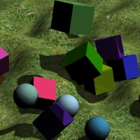 Example Physijs simulation