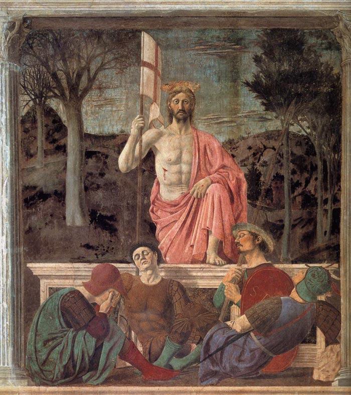Piero della Francesaca, The  Resurrection. Museo Civico de Sansepolcro, c. 1467-68.