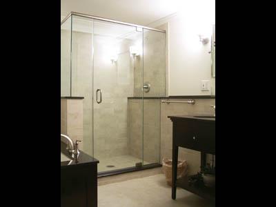 Elegant, Free-standing Shower