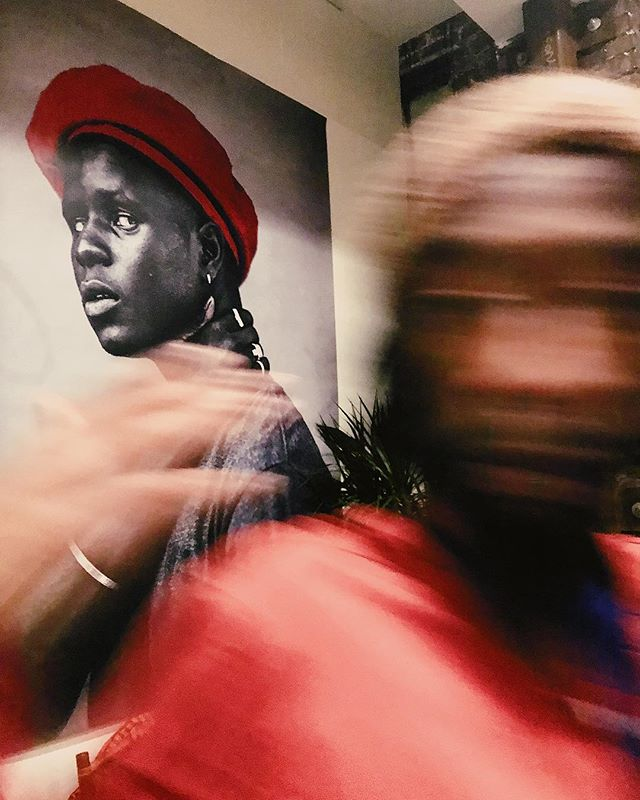 Uncle Joonbug last night at #AirbnbDesignTalks w/ Joshua Kissi.  #veryblack #vscox #documentingspace