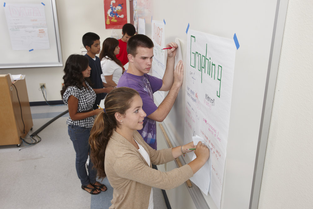Image of students working together in math class