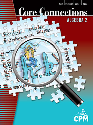 Cca2 cpm educational program core connections algebra 2 book cover fandeluxe Image collections