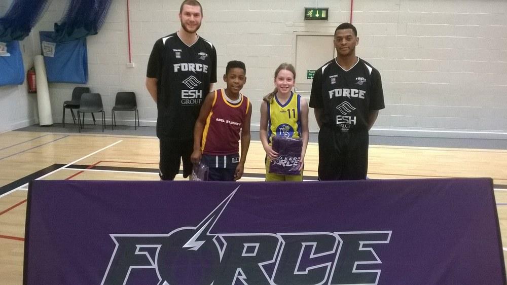 Leeds North West Basketball Y4 5 Finals MIP = Megan (Menston) MVP = Latrell (Adel St John's)