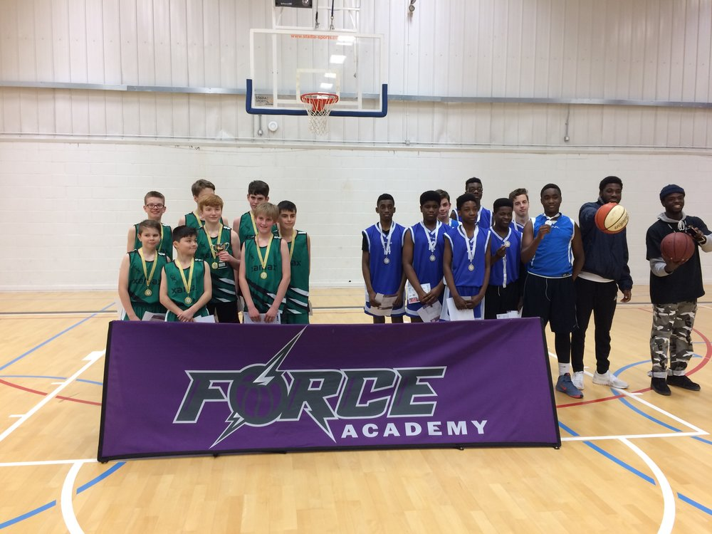 Horsforth School won the Leeds North West SSP U14 Basketball final for the third year in a row! After recovering from a six point deficit (10-4) after half time Horsforth fought hard to retain the trophy winning 12-10 against Abbey Grange!  Horsforth will go on to play in the Leeds Final 30th January.  Congratulations to Abbey Grange who took silver and Guiseley who came third place.  Many thanks to Leeds Force for delivering the final at Leeds Becketts University.