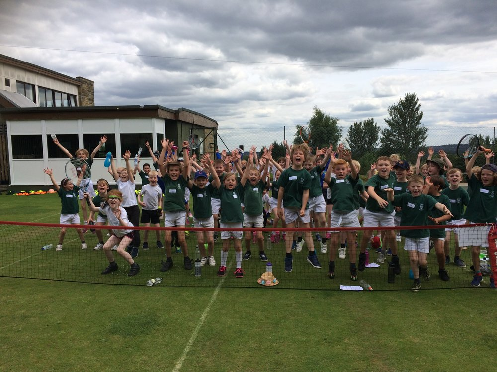 Rawdon Tennis Club Y3/4 Wimbledon Celebration Festival.
