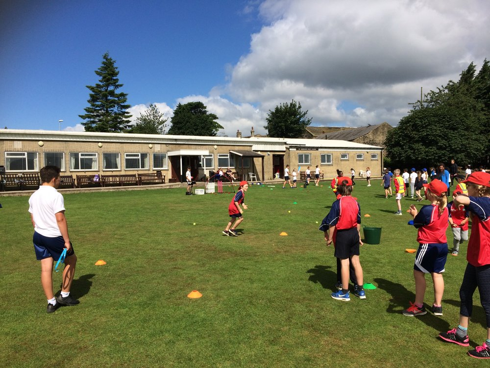 Y4 Cricket development festival at Leeds Mods CC.