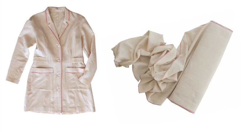4o yard bold and Weaving Lab coat