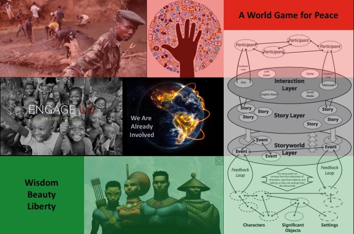 * Image in right panel of figure from  Peter von Stackelberg  * Image of African heroes at bottom of figure from  Howafrica  * image in center of of figure from  gigaom.com  * Image at top center of figure from  saracucala