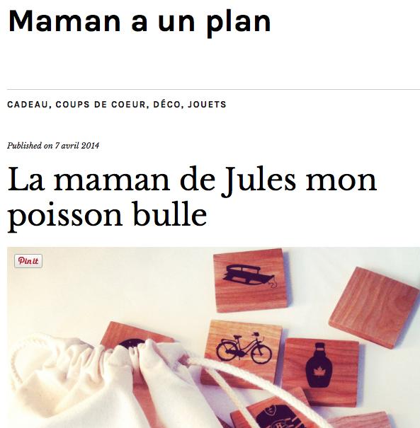 Maman a un plan [avril 2014]