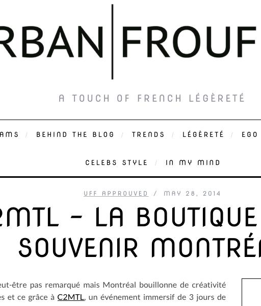 Urban Froufrou [mai 2014]