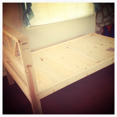 This is a guest bed I helped build.
