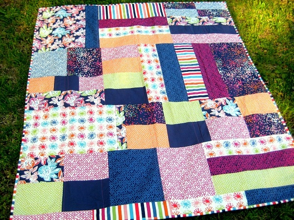 oh happy day fabric picnic quilt
