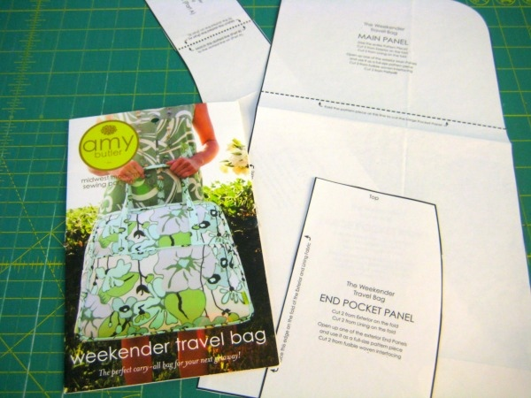 Weekender Pattern Pieces