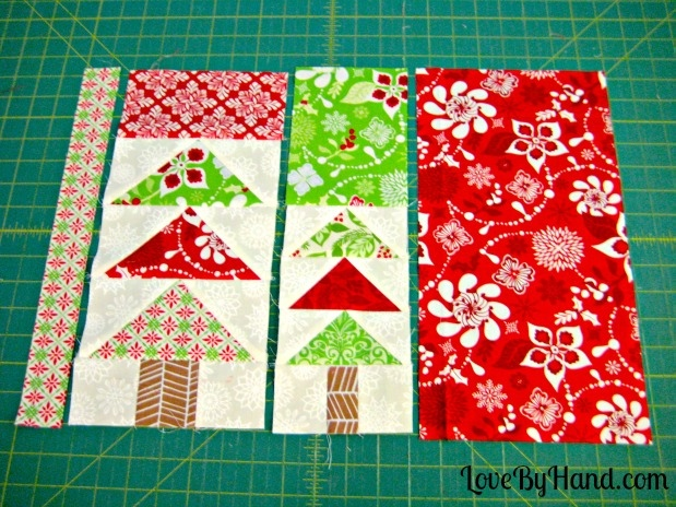 Flying Geese Christmas Tree Placemat Tutorial