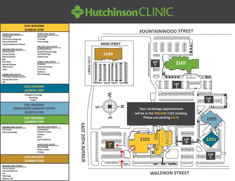 Campus Maps Hutchinson Clinic