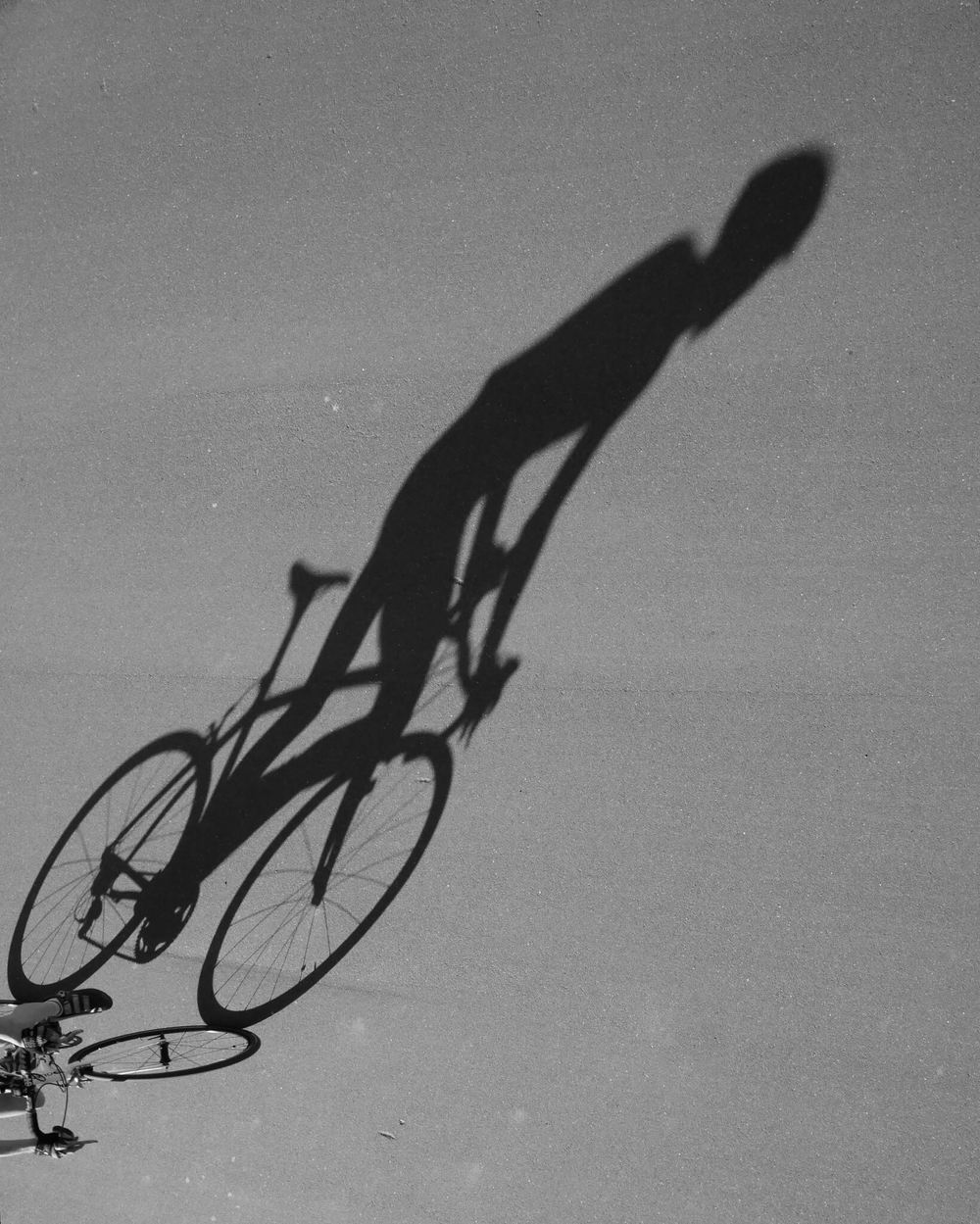 Shadow - A shadow of a cyclist taken at Cyclopark in Gravesend, Kent
