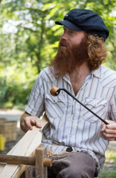 Jamin Uticone's basket-making demo