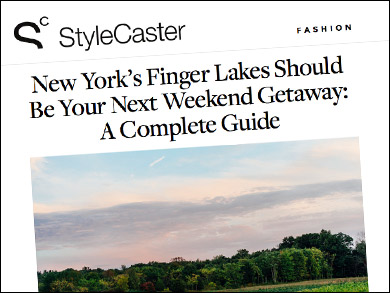 "Stylecaster:  ""New York's Finger Lakes Should Be Your Next Weekend Getaway"" ""Swing by the Cider House's airy wood-beamed tasting room to try ciders from five different local makers... Oh, and they have horses too.  Super fun!"""