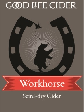 Workhorse '15 $15/bottle, case discount 15% 2015. Semi-dry. Sparkling. Fruit forward. Bright citrus and tropical notes, balanced with mouth-watering acidity. A cider for every day.