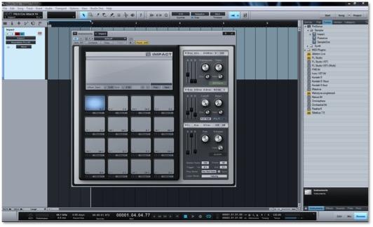 Presonus Studio One Impact Click and Drag New Track