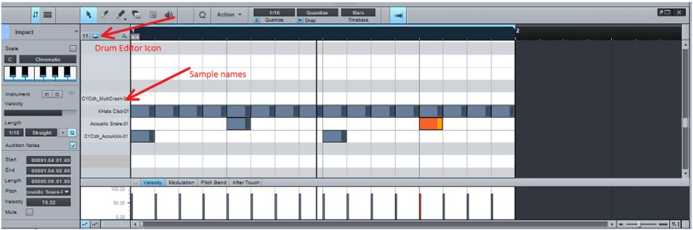 MIDI Drum Part Editing