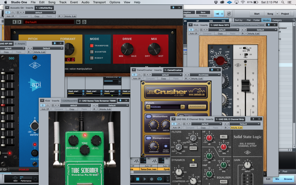 Studio One Plugin Window