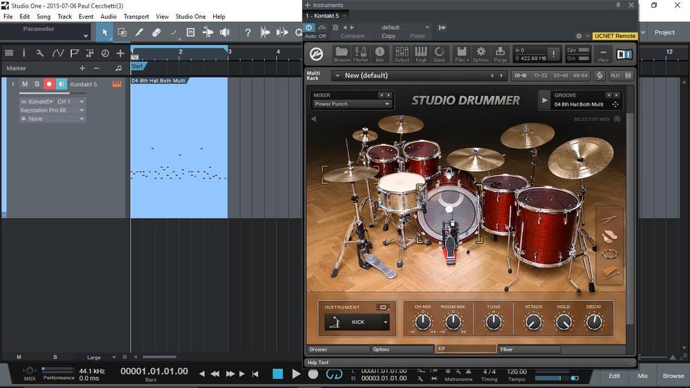Studio Drummer in Native Instruments Kontakt.