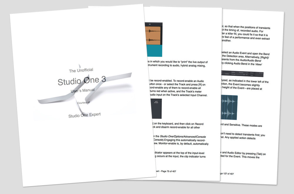 The Unofficial Studio One 3 Manual In PDF Format Free From