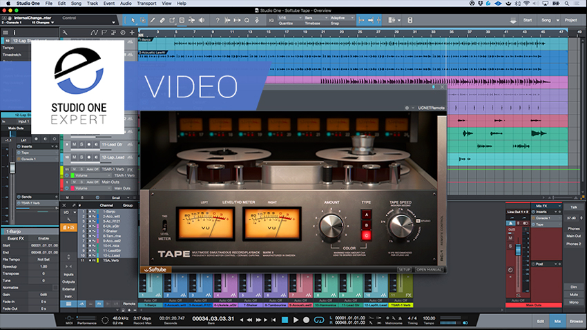 Softube Tape - MixFx Plug-in For Studio One