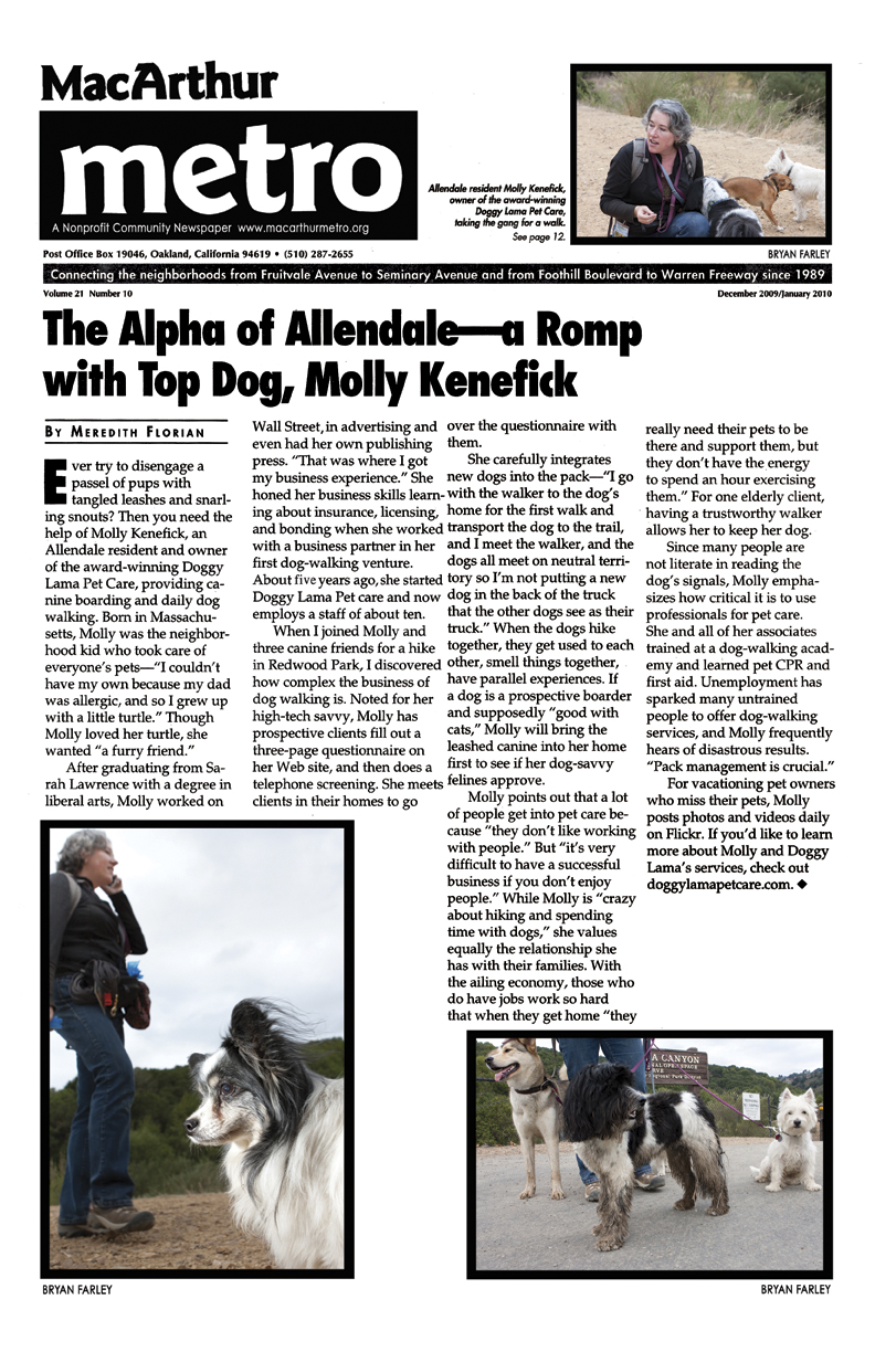 MacArthur Metro article with Doggy Lama and Molly Kenefick