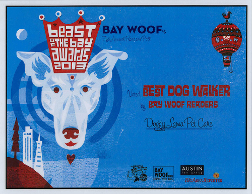 Beast of the Bay Winner Doggy Lama Oakland, Berkeley, Emeryville